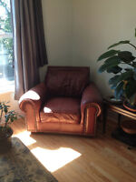 Leather couch and Chair, high quality,  includes delivery
