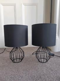 2 Modern Bedside Table Lamps