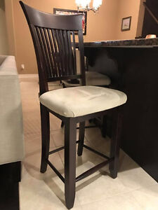 2 Counter/bar height chairs Stratford Kitchener Area image 1