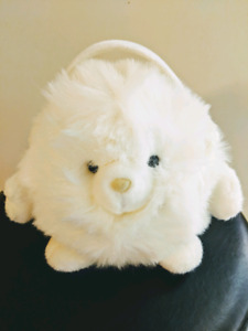 Snowpuff wearing earmuffs, Russ collectable, new with tag