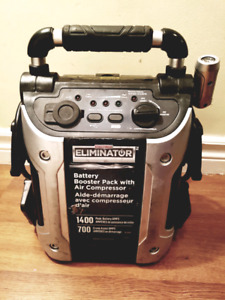 Great condition Eliminator booster pack with compressor $175