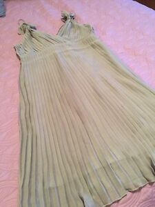 Party Dress. Nude/Beige. Pleated. Size M. Kitchener / Waterloo Kitchener Area image 1