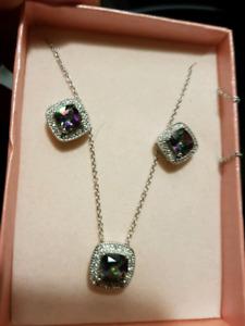 Ensemble bijoux zirco
