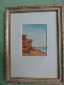 Pair Of WaterColors,Island artist,Leila Amy Morris,Charlottetown