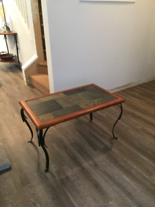 6 piece coffee table, end table, plant stand and hall table