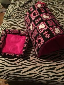 Hello kitty Guinea pig bed and tunnel, hand sewn