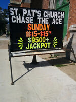 St. Patrick's Church Chase the Ace - Jackpot $9589.50
