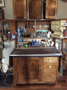Antique Hoosier display cupboard.