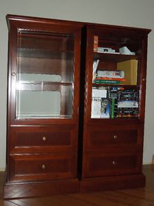 Entertainment storage units, bookcases, media cabinets