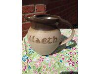 """Tregaron pottery """"llaeth"""" milk jug"""