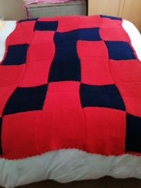 Hand knitted blankets