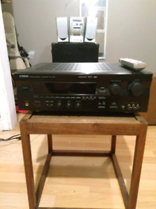 Yamaha stereo receiver and Sony speakers