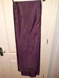 Pair of Purple Eyelet Curtains