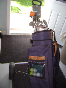 Golf club package complete with bag and cart