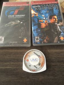 Three PSP games for sale.