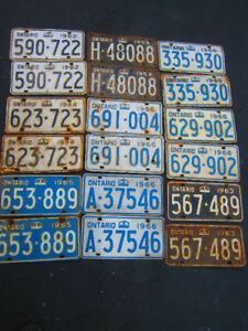 Vintage License Plates Pairs Old AND NOS new $45. Pair