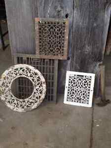 Antique floor vents