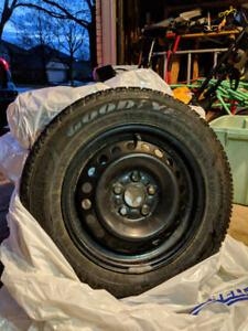SET OF FOUR (4) WINTER TIRES AND RIMS