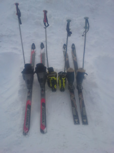 Downhillskis and boots