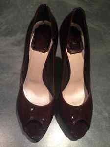 Authentic Christian Dior Shoes 37 1/2 Burgundy