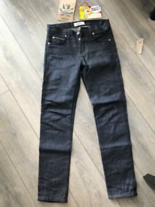Naked and Famous -Super Skinny Guy - Hemp Selvedge jeans 30x31