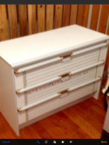 White dresser perfect for nursery or kid's room (European made)