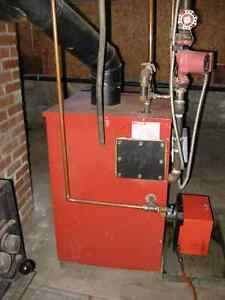 Used Hot Water Furnace , connections and water reservoir tank