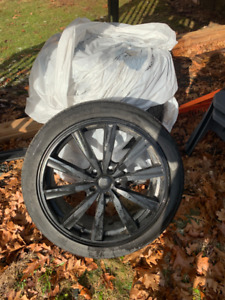 19in black rims with 5 x 114.3 bolt pattern