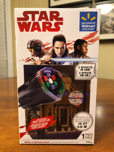 New Star Wars Whirl-a-Motion + Static Lightshow- Christmas Light