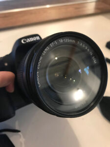 CANON EOS 70D WITH 18-135MM LENS, BATTERIES + CHARGER, & MORE