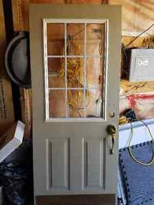 Screen Door and Glass Panel inside door