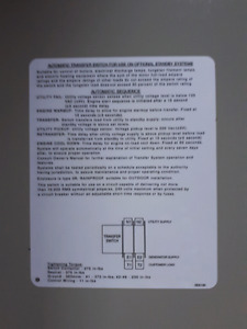 Nema 3R indoor/ outdoor automatic transfer switch