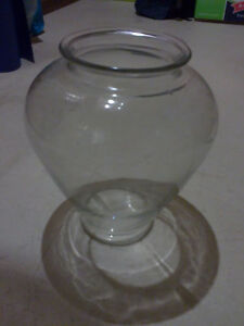 Large glass flower pot planter pot vase excellent condition