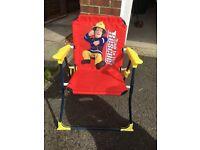 "Fireman Sam Deck Chair ""The Hero Next Door"" Very little use Excellent condition"