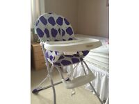 Nearly new high chair