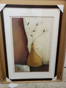 """SIMPLE LIFE - PAINTING ON CANVAS IN FRAMED GLASS 36""""x24"""""""