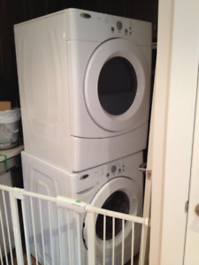 Amana stackable washer/dryer - hardly used $500 for the pair