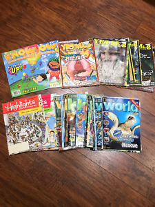 World, Yes Mag, Know and Highlights magazines for kids