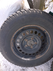 Mudd and Snow Tires with Rims