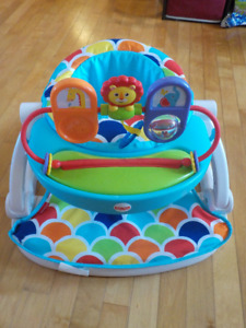 Fisher Price Sit Me Up Floor Seat With Toy Tray