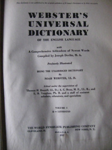 Webster's Universal Dictionary