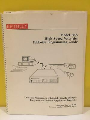 Keithley 194a-903-01 Model 194a High Speed Voltmeter Ieee-488 Programming Guide