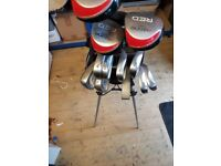 Ozone Starter Golf Clubs Set including bag.