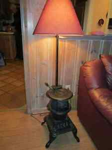 Pot Belly Stove Lamp