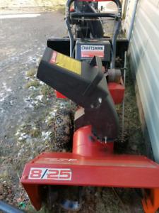 8hp 25 inch craftsman snowblower