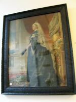 Antique Colour Print and Frame Queen Victoria