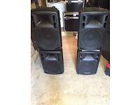 "KONIG 12"" full range speakers"
