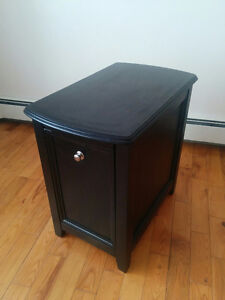 Ashley end table with slide out cup holder