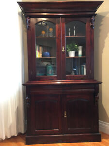 Beautiful solid wood cabinet (in 3 sections)