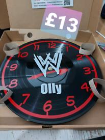personalised record clocks